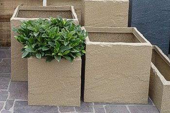 Stone Effect Cube Planters