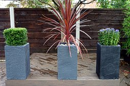 Stone-Effect Tall Square Planters