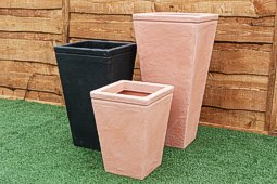 Tapered Square Plastic Planters